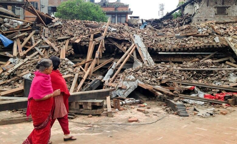 kathmandu jordbävning byggnad