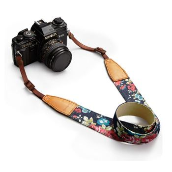 camera strap flowers