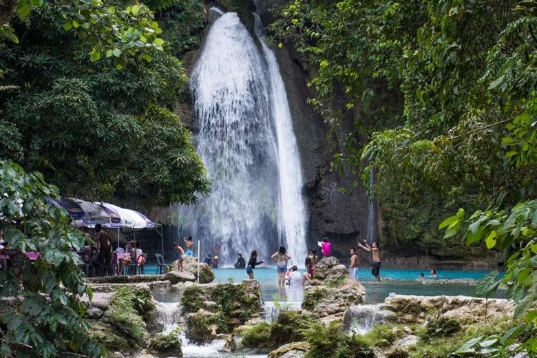 Kawasan Falls Tourists
