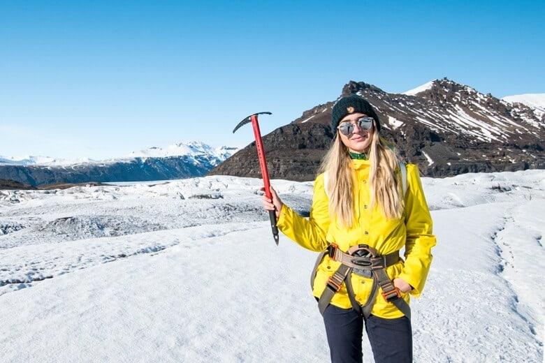 Christine Abroad Glacier