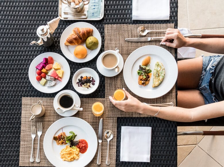 terrace club at busena breakfast
