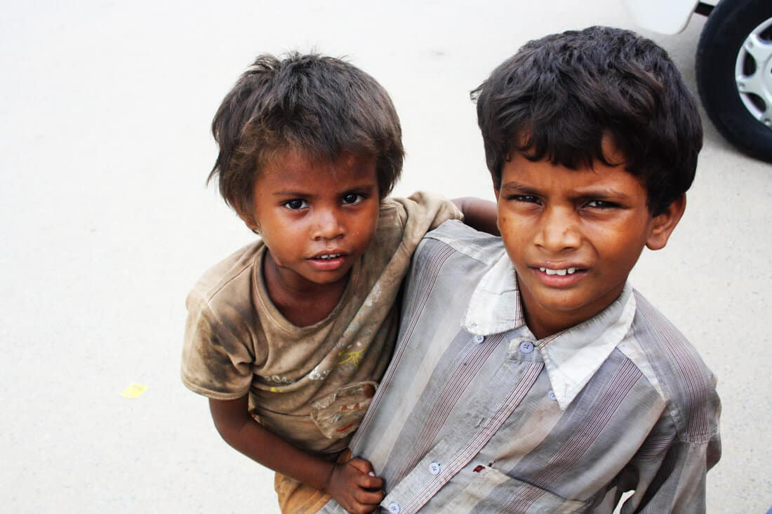 beggars kids