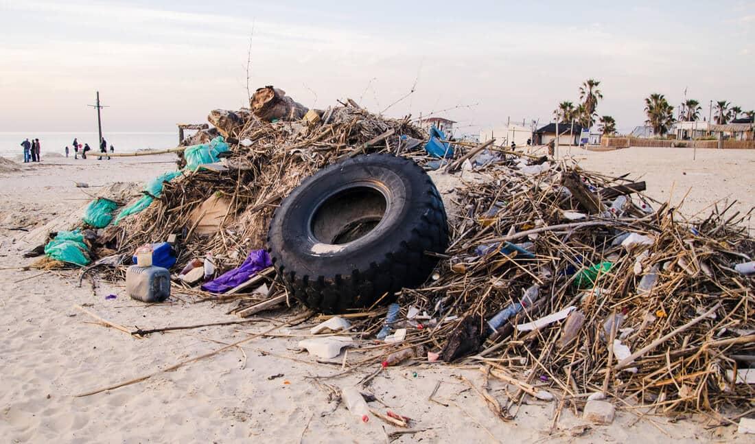 garbage beach