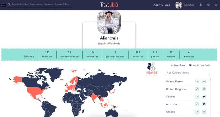 Christine Abroad travelibro