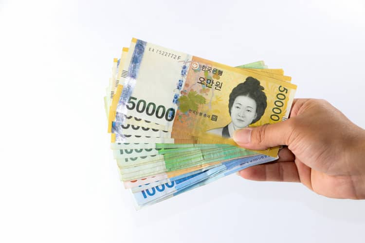 sydkorea pengar