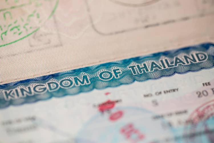 visum i thailand