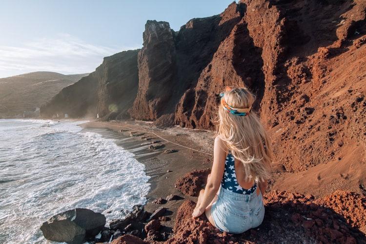 santorini beaches