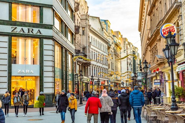 budapest shopping street
