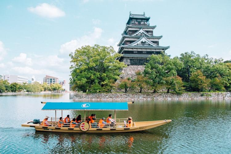 boat tour at hiroshima castle
