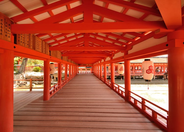 inside Itsukushima Shrine