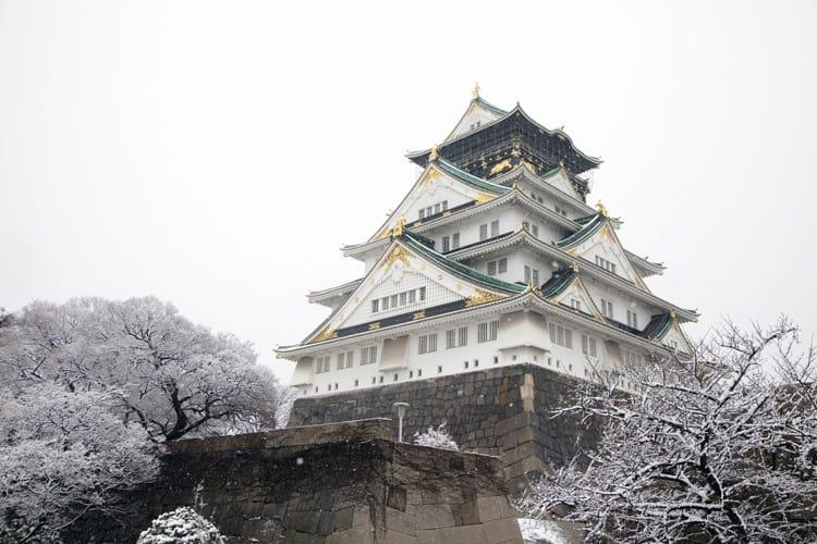 osaka castle winter